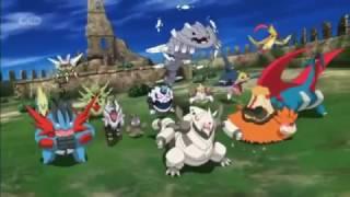Ash´s Kalos Team vs ALL MEGA POKEMON (19 Movie)