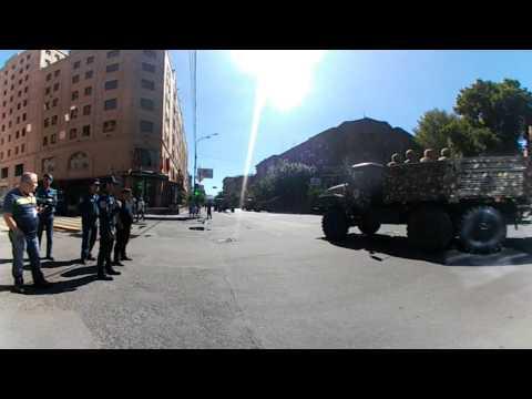 360 Video Армения Ереван.Репетиция Военного парада в честь 25 летия Независимости