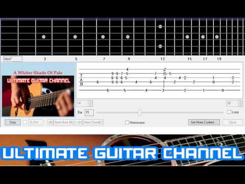 Guitar Solo Tab A Whiter Shade Of Pale Gary Brooker And Keith Reid