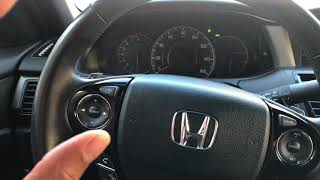Honda Accord - How to open the gas tank
