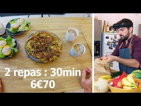 repas-de-crise-en-30-minutes---entrée,-plat-et-dessert-pour-moins-de-3€50