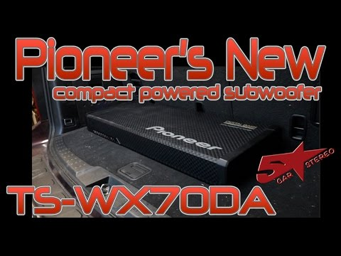 Pioneer's new compact power subwoofer the TS WX70DA