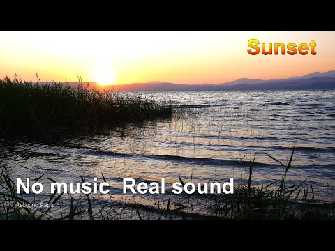 Sea Of Galilee, Israel, SUNSET, Real Wave Noise For Relaxation