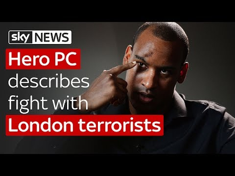 Hero officer fight with London terrorists