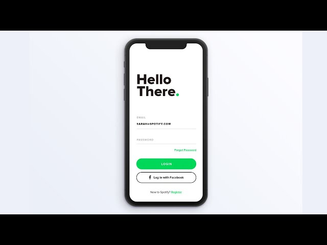Flutter UI - Login and Sign up