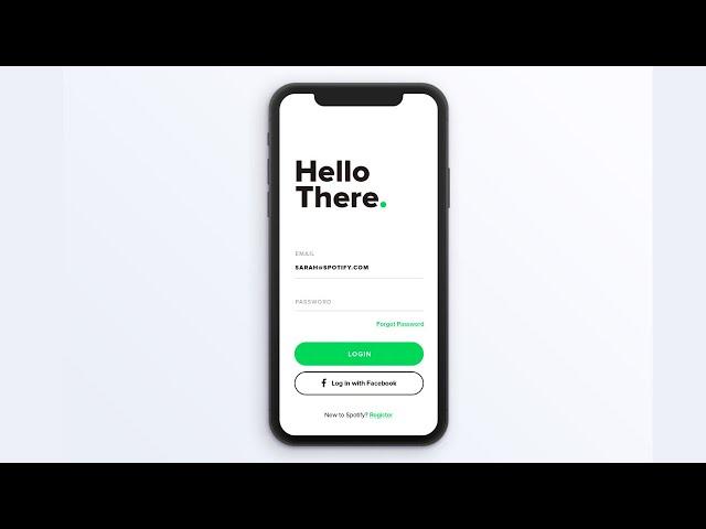 Flutter UI - Login and Sign up