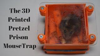 The 3D Printed Pretzel Prison Mouse Trap In Action.