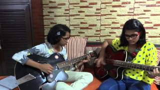 Dus Bahane karke le gaye Dil Song on guitar by Chinmayee-Teetiksha