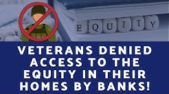 VA Cash out STOPPED by some Mortgage Banks!