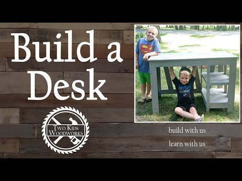 Kids Build a Custom Desk with Basic Woodworking Tools