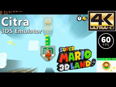 Citra Canary 408   Super Mario 3D Land (4K / Solid 60 FPS) : emulation