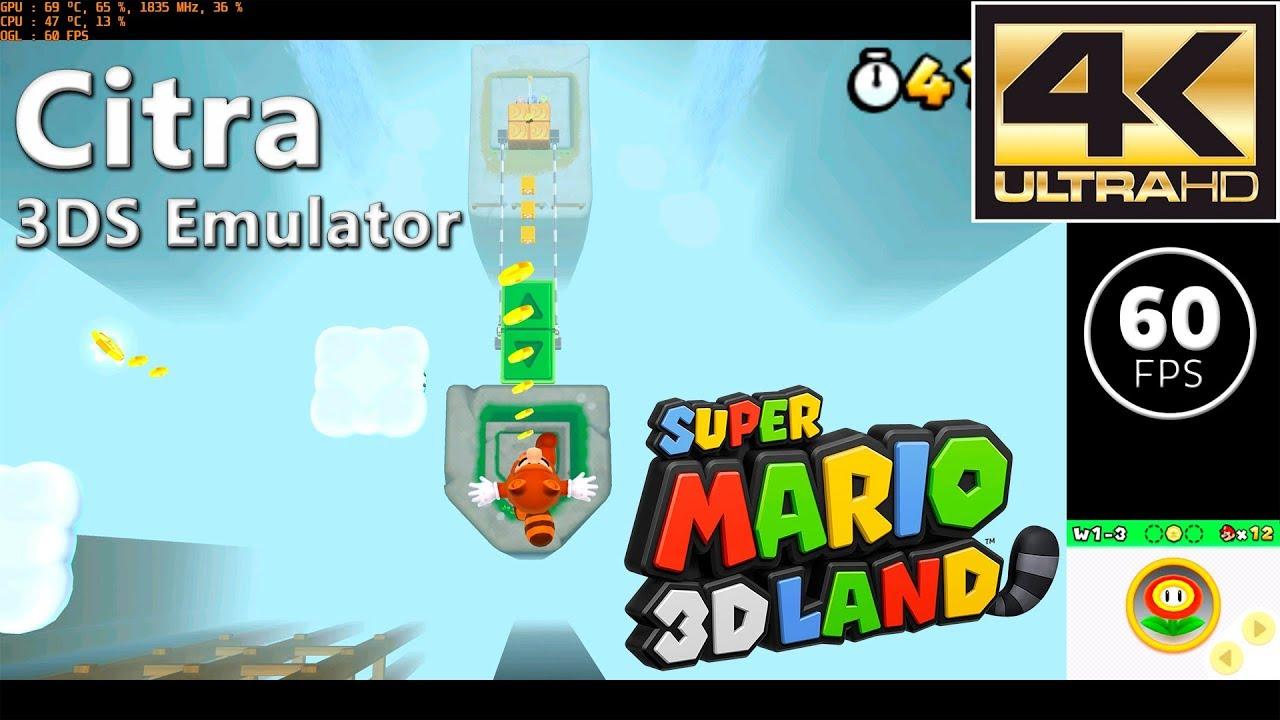 Citra Canary 408   Super Mario 3D Land (4K / 60 FPS)