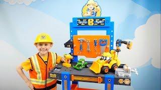 Видео для детей Машинки и строитель Даник - Детский рабочий стол из мультика БОБ СТРОИТЕЛЬ