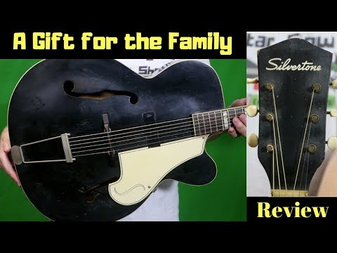 A Preacher's Gift | 1958 Silvertone Aristocrat Model 644 Archtop Black | Review and Demo