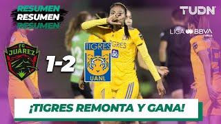 Resumen y Goles | FC Juárez 1 - 2 Tigres | Liga MX Femenil - AP 19 - J13 | TUDN