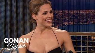 "Jennifer Garner Corrects Conan's Grammar - ""Late Night With Conan O'Brien"""