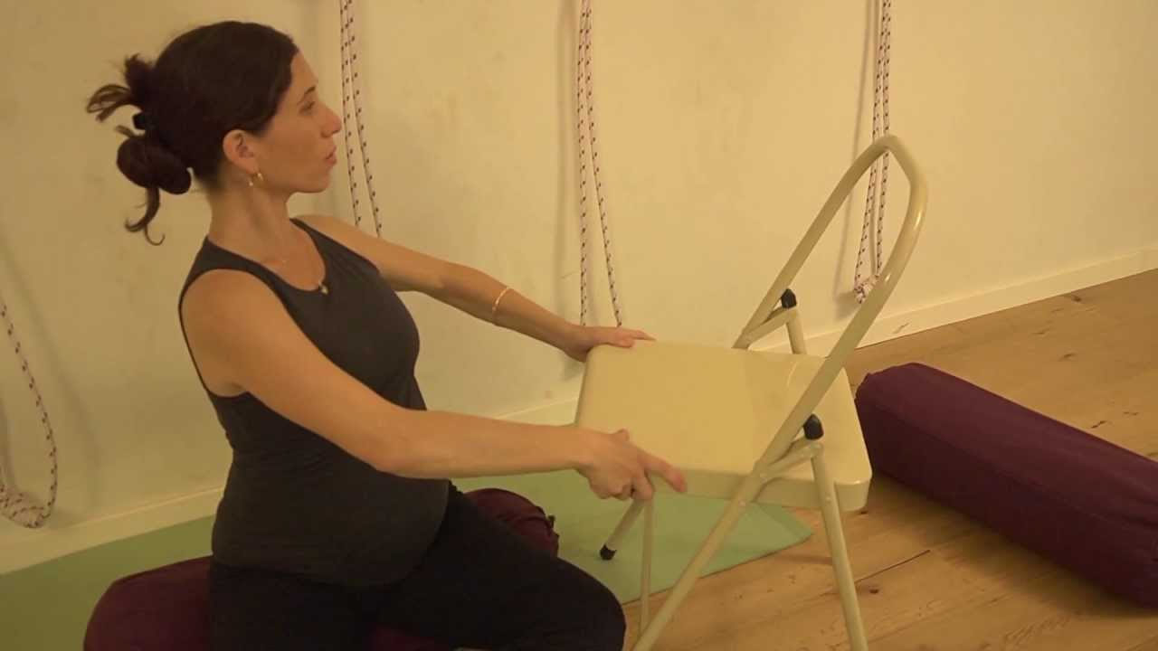 Iyengar yoga sequence with props for pregnancy part 1