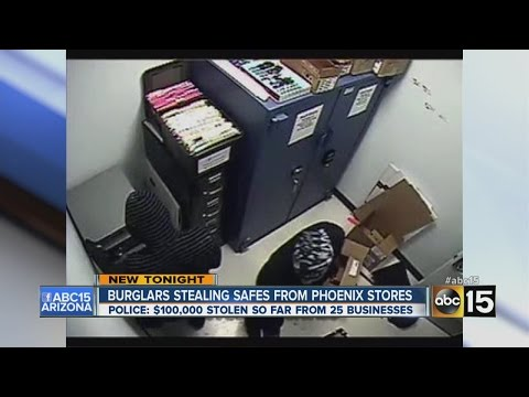 Burglars crack safes at Phoenix-area businesses