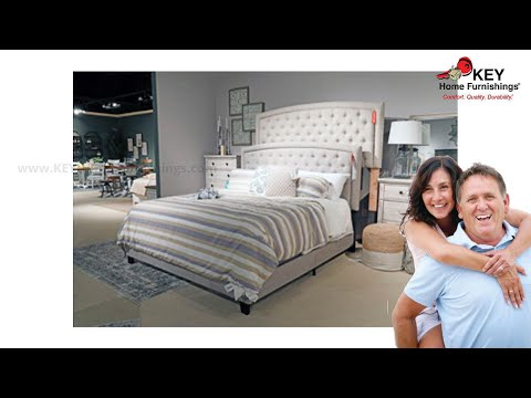 Ashley Jerary King Upholstered Bed B090 782 Key Home Youtube