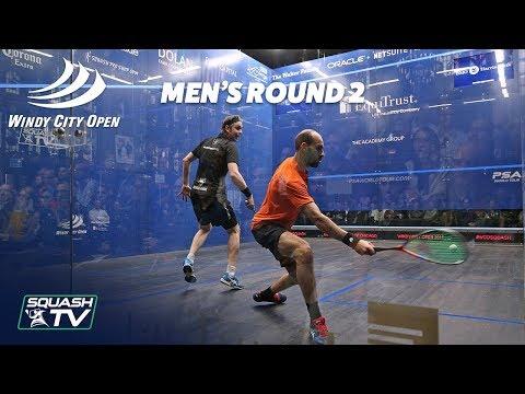 Squash: Windy City Open 2018 - Men\'s Rd 2 Roundup [Pt.1]