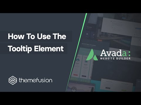 How To Use The Tooltip Element Video