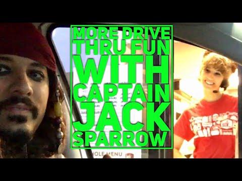 More Pirates of The Caribbean! Jack Sparrow Drive Thru Pranks!