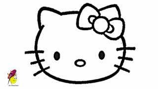 Face Hello Kitty - how to draw hello kitty