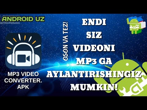 Androidda MP4 Video Ni MP3 Ga Aylantirish Siri