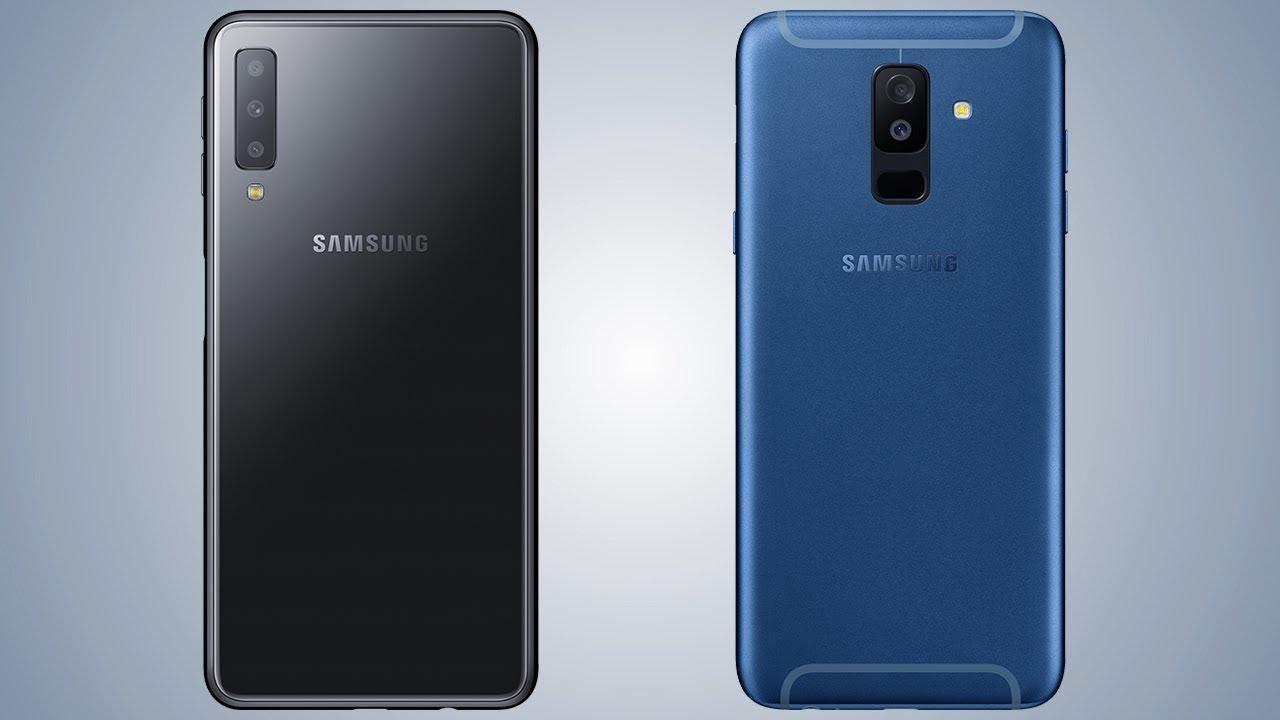 samsung galaxy a7 2018 vs galaxy a6 plus comparison youtube. Black Bedroom Furniture Sets. Home Design Ideas
