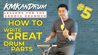 "How To Create Great Drum Parts: creating drum parts to ""Glitter & Wine"" by Aimee Lynn Chadwick"
