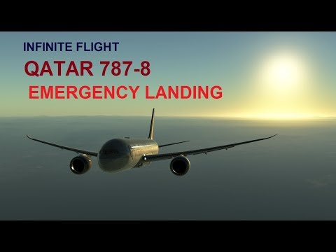INFINITE FLIGHT GLOBAL - QATAR 787-8 Emergancy landing at Edinburgh international airport