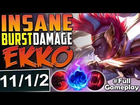 INSANE BURST DAMAGE EKKO  ONE SHOT THEM ALL  New Runes Ekko vs Riven TOP Season 8 PBE Gameplay