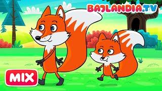 Idą Lisy Dwa - Piosenki dla Dzieci - Bajlandia.tv - Zestaw Dziecięcych Piosenek