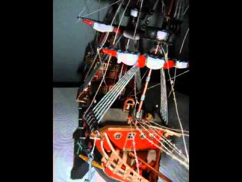 War Sailing Ship & Pirate Ship. Plastic Scale Model Building Kit.
