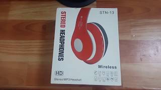 Unboxing stn-13 bluetooth headphones