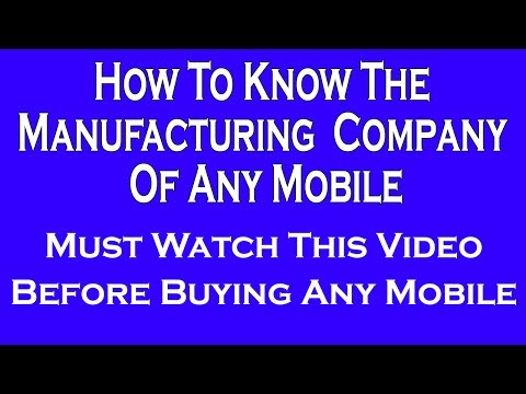 How To Know The Manufacturing Country Of Any Mobile Easily