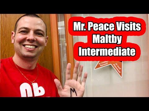 Mr. Peace Visits Maltby Intermediate School in Brighton, Michigan