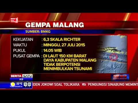 Gempa 6,3 SR Guncang Malang, berita hari ini - YouTube