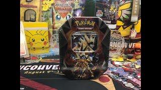 Brand New Pokemon Ultra Prism Dusk Mane Necrozma GX Tin Opening