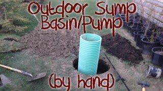 outdoor sump pump installation