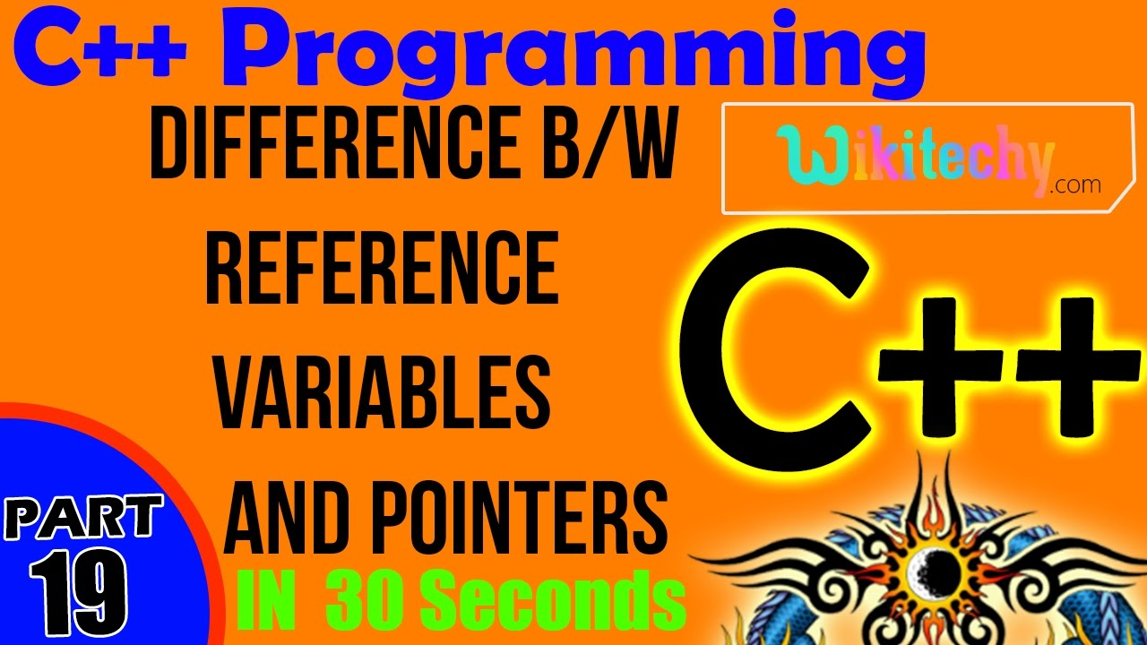 Difference Between Reference Variables and Pointers in C++ | C++ Interview  Questions and answers