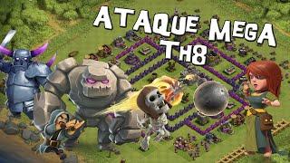 Ataque Mega para Ayuntamiento 8 | Ataques #44 | Descubriendo Clash of Clans