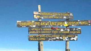 MOUNTAIN KILMANJARO FROM THE TOP AND ON THE MOUNTAIN BY DJWALEED FULL HD