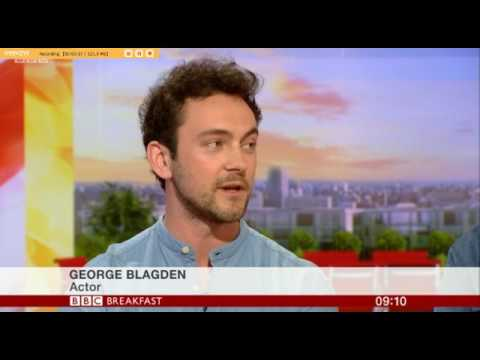 George Blagden and Alexander Vlahos on BBC Breakfast 280417 discussing Season 2 of Versailles