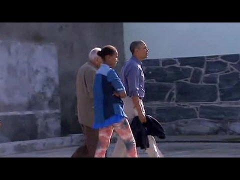 Обама побывал в бывшей тюрьме Манделы
