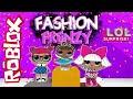 LOL Surprise Roblox Challenge! Fashion Frenzy!