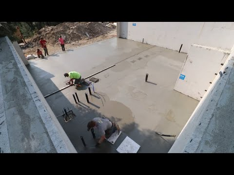 WE RAN OUT OF CONCRETE! (Pouring Concrete Slab)