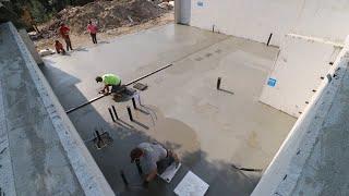 WE RAN OUT OF CONCRETE! (Pouring Concrete Slab)