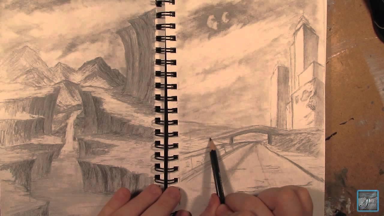Apocalyptic City Drawing - YouTube