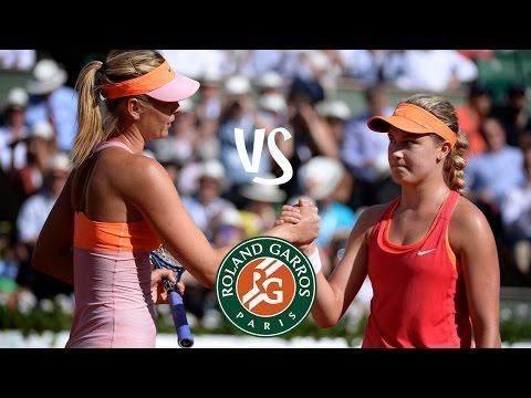 Sharapova vs Bouchard | 2014 Highlights